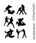 silhouettes of mma fighters... | Shutterstock .eps vector #1794674257