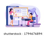 students learning and...   Shutterstock .eps vector #1794676894