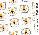seamless pattern with cartoon... | Shutterstock .eps vector #1794714787