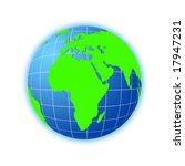 green planet on a white... | Shutterstock . vector #17947231