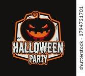 vintage halloween typography... | Shutterstock .eps vector #1794731701