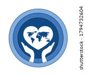 world humanitarian day vector... | Shutterstock .eps vector #1794732604