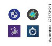 stopwatch icon vector design... | Shutterstock .eps vector #1794734041