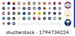 round circle flag of the us...   Shutterstock .eps vector #1794734224