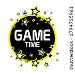 game time with creati font... | Shutterstock .eps vector #1794735961