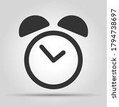 alarm clock flat style icon.... | Shutterstock .eps vector #1794738697