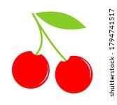 cherry icon. cherry vector icon.... | Shutterstock .eps vector #1794741517