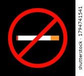 no smoking icon. no smoking... | Shutterstock .eps vector #1794741541