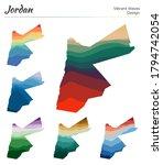 set of vector maps of jordan.... | Shutterstock .eps vector #1794742054