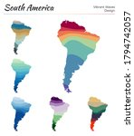 set of vector maps of south... | Shutterstock .eps vector #1794742057