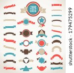 set of color vintage round ... | Shutterstock .eps vector #179475299