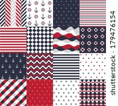 Seamless Pattern With Nautical...