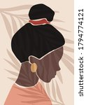 abstract colorful woman vector...   Shutterstock .eps vector #1794774121