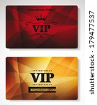 plastic vip cards with the... | Shutterstock .eps vector #179477537