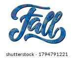 word fall textured autumn... | Shutterstock .eps vector #1794791221