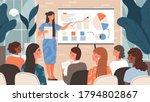 businesswoman giving a training ...   Shutterstock .eps vector #1794802867