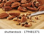 a mound of fresh walnuts being... | Shutterstock . vector #179481371