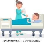 nurse and patient. the doctor... | Shutterstock .eps vector #1794830887