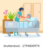 nurse and patient. the doctor...   Shutterstock .eps vector #1794830974