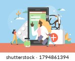 web medicine flat vector...   Shutterstock .eps vector #1794861394