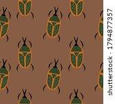entomological seamless pattern... | Shutterstock .eps vector #1794877357