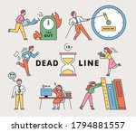 people are busy working because ... | Shutterstock .eps vector #1794881557