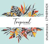 vector tropical frame with palm ... | Shutterstock .eps vector #1794894424
