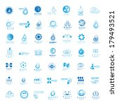 water and drop icons set  ... | Shutterstock .eps vector #179493521