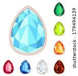 amber  citrine  ruby  diamond ... | Shutterstock .eps vector #179494139