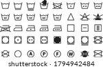 symbols of washable. full icon... | Shutterstock .eps vector #1794942484