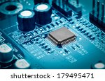 close up of electronic circuit...   Shutterstock . vector #179495471