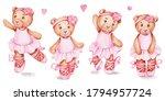 Set Of Four Teddy Bears...