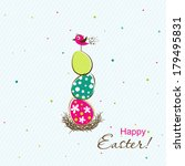 template easter greeting card ... | Shutterstock .eps vector #179495831