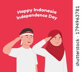 happy indonesia independence... | Shutterstock .eps vector #1794963781