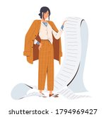 sad stylish business woman hold ... | Shutterstock .eps vector #1794969427