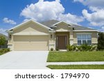 home with blue sky and clouds... | Shutterstock . vector #1794970