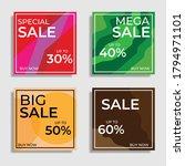 full color social media... | Shutterstock .eps vector #1794971101