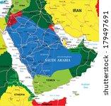 saudi arabia map | Shutterstock .eps vector #179497691