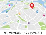 3d isometric map with... | Shutterstock .eps vector #1794996031