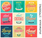 beach bar set   labels  emblems ... | Shutterstock .eps vector #179500961