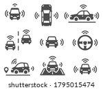 driverless car icons.... | Shutterstock .eps vector #1795015474
