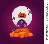 happy halloween illustration  ...   Shutterstock .eps vector #1795023277