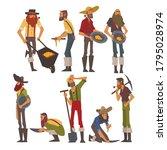 Male Prospectors Characters Set ...