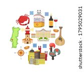 travel to portugal  portuguese... | Shutterstock .eps vector #1795029031