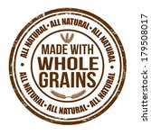 made with whole grains grunge... | Shutterstock .eps vector #179508017