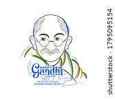 illustration of gandhi jayanti... | Shutterstock .eps vector #1795095154
