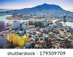 Busan, South Korea cityscape from above. - stock photo