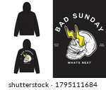 retro street wear hoodie. bad...   Shutterstock .eps vector #1795111684