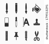 art icons set   simple and easy ... | Shutterstock .eps vector #179513291