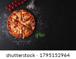 Overhead Shot Of Italian Pizza...